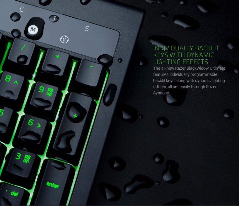 Razer Blackwidow Ultimate Backlit Mechanical Gaming Keyboard Fully  Programmable Tactile Clicky Razer Green Switch Keyboard