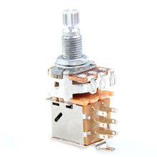 instrumento musical A500K Push Pull Control Pot Potentiometer for Electric Guitar Bass Musical Instruments ea14