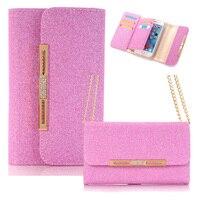 Dla Funda iPhone 7 Case New Fashion Shiny PU Skórzany Pokrowiec 2 W 1 Hybird Portfel Bag Pokrywy Skrzynka dla Apple iPhone 6 6 S 6/6 S/7 Plus