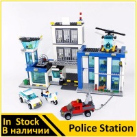 BELA 10424 Compatible Legoe City Police Station 60047 Building Bricks Emma Mia Figures Toys For Children