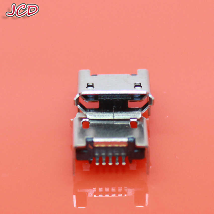 JCD New Micro USB 5 Pin Flat DIP jack Micro USB connector 5pin seat Jack Micro usb Four legs 5P Inserting plate seat