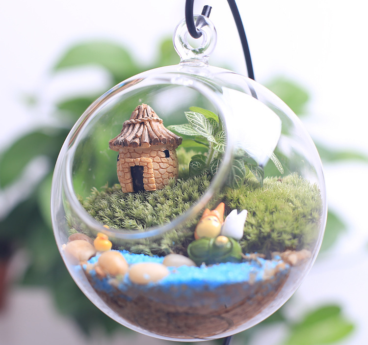 Kawaii Mini Dollhouse Miniatures Cottage Terrarium Fairy Garden Gnome Moss  2 Colors Resin Decorations For Home And Garden Diy In Figurines U0026  Miniatures From ...