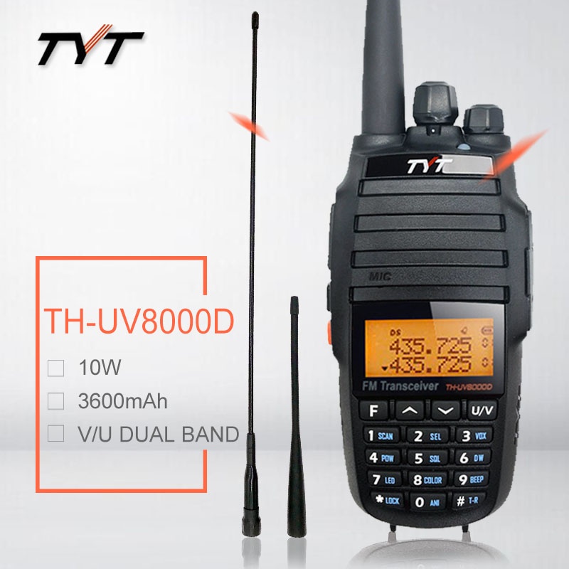 Walkie Talkie 10W TYT TH UV8000D VHF UHF Ham CB Two Way Radio Station Amateur HF Transceiver TH UV8000D Radio Scanner Repeater