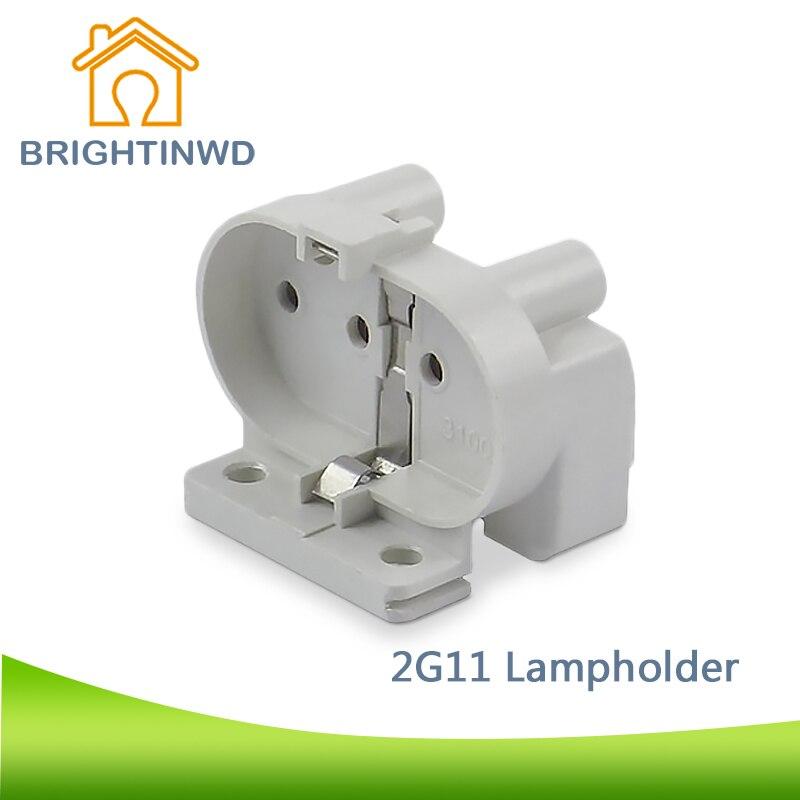 BRIGHTINWD 2G11 Base 2G11 Sockets For LED And Traditonal Bulbs 2G11 Adaptor 2G11 Lamp Holders Free Shipping