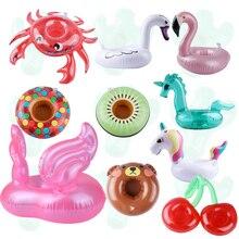 Лебедь Краб Фламинго плавающий держатель для напитков надувной подстаканник для бассейна бассейн вечерние игрушки для воды детские надувные игрушки для бассейна