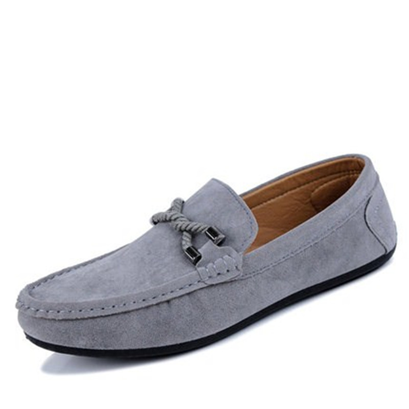 Los hombres Zapatos de Los Planos 2017 nuevos de Cuero de Gamuza Suave Resbalón En Holgazanes