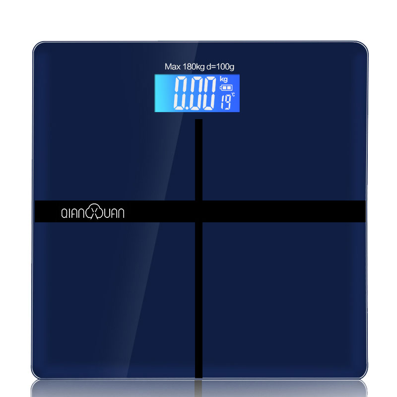 Tempered Glass Household Smart Scale Electronic Digital Floor Scales Bathroom Body Scale LCD Display Division Value 150kg 50g