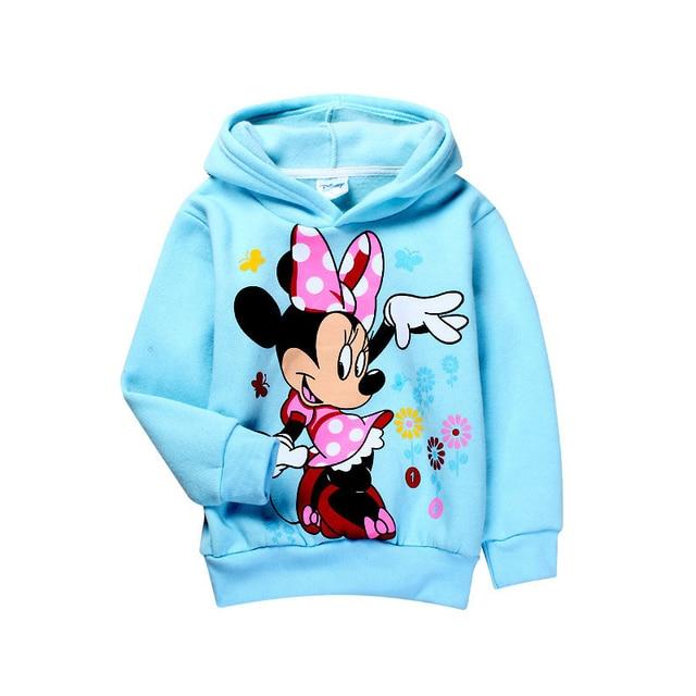 Retail 2017 Autumn baby girls Minnie Fleece hoodies,Children outerwear,Kids Cartoon Clothes/Sweatshirt/ Winter Coat