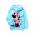 Varejo 2017 do bebê meninas Outono Minnie hoodies do Velo, Crianças outerwear, Crianças Dos Desenhos Animados Roupas/Camisola/Casaco de Inverno