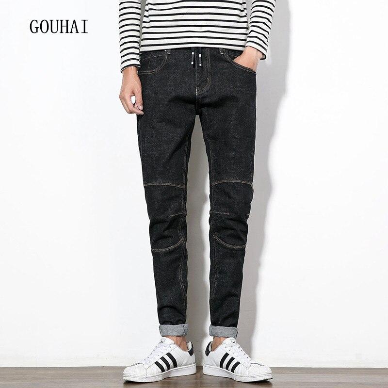 2016 Autumn Winter Men Jeans Black Plus Size Mens Denim Jean Cotton Pants Men Denim Trousers Classical Slim Jeans Men