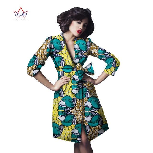 brw 2017 africa print trenchcoat for women dashiki plus size