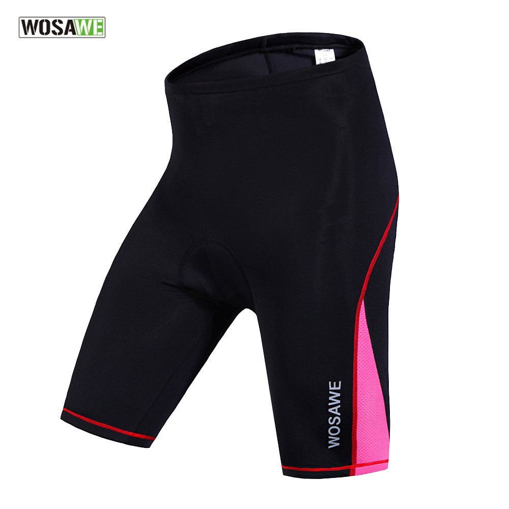 WOSAWE Women's Cycling Shorts Gel Padded Biking Bicycle Short Pant Quick Dry Ciclismo Summer Spandex MTB Shorts S-XL