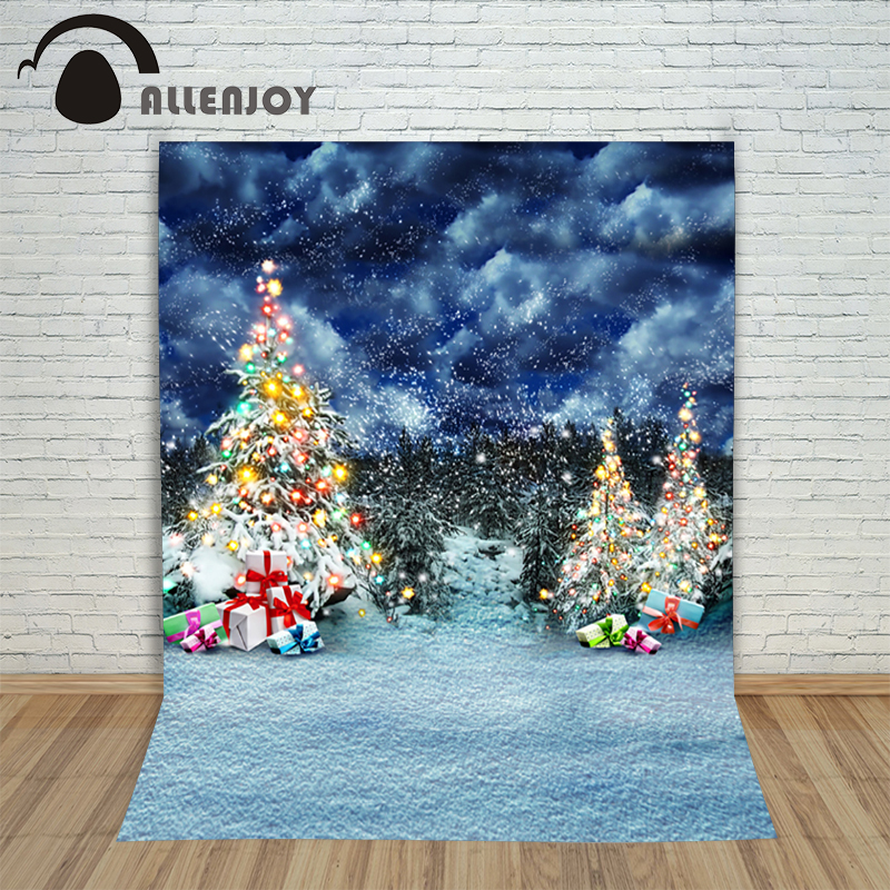 Christmas background photography studio Forest Gift Snow at night child new Year Fairy tale wonderland 10x10ft fond studio noel vinyl photography background fairy tale