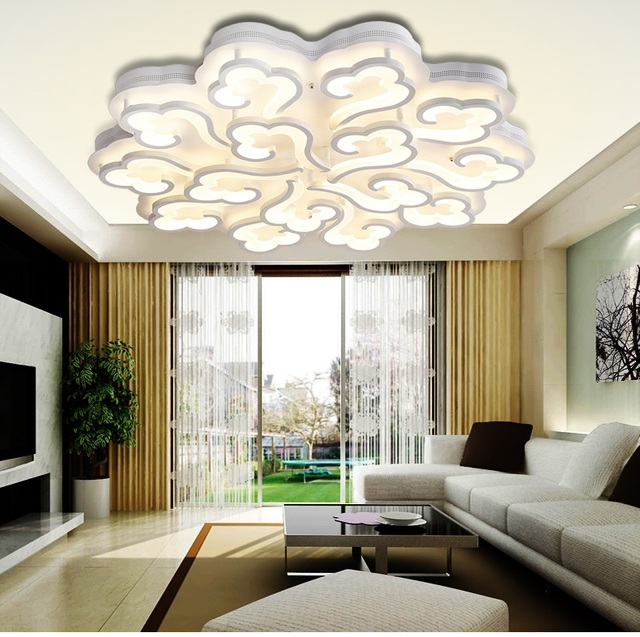 LED ronde van moderne woonkamer plafond lampen warm slaapkamer sfeer ...