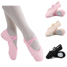 Canvas Ballet Shoes Canvas Dance Shoes Canvas Ballet Dance Shoes Slippers  Girls Pointe Gymnastics(China 3741b21bcbeb