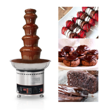ITOP Commercial Chocolate Fountain Chocolate Melting Warming Machine For Party Banquet 110V 4/5/6/7 Tiers Chocolate Fairy