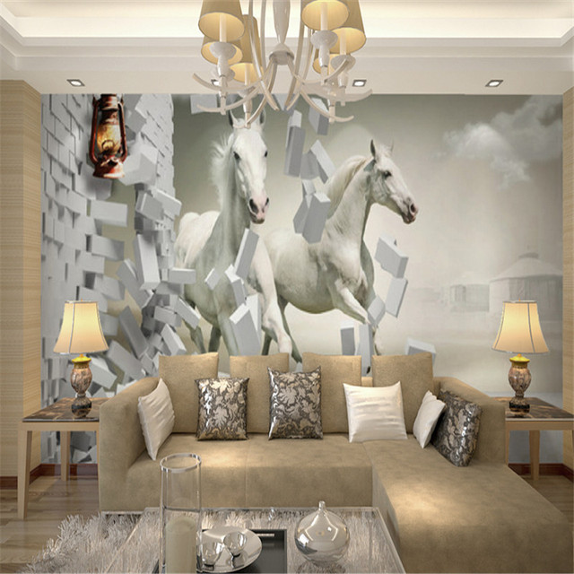 Creative wallpaper for walls home design for Unusual wallpaper for living room