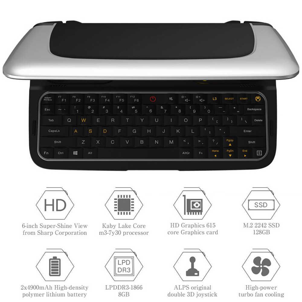 GPD Win2 6 Inch Máy Chơi Game Cầm Tay Mini Laptop Windows 10 Notebook 8 GB/256 GB Quad Core 2.4 g/5G Kép Màn Hình Cảm Ứng