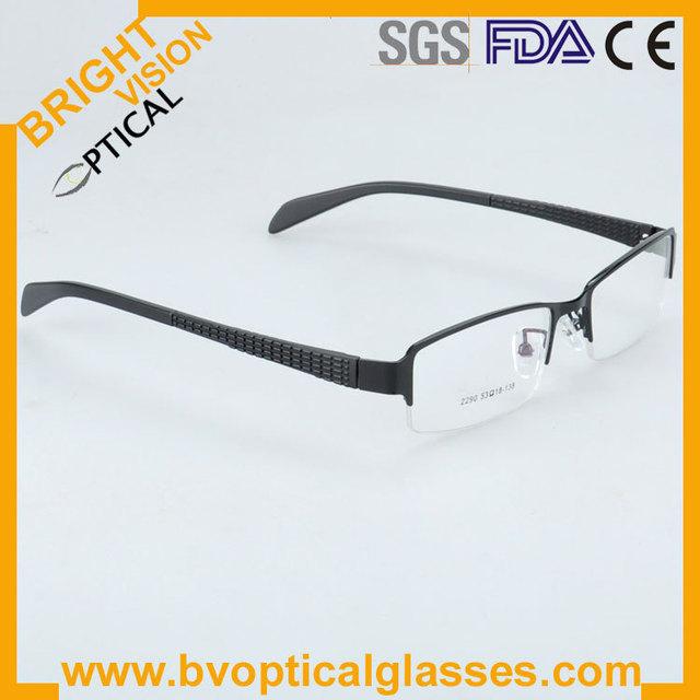 2290 VENDA QUENTE Entrega Rápida Metade aro para homens óculos de Metal óculos armações óculos de prescrição de óculos