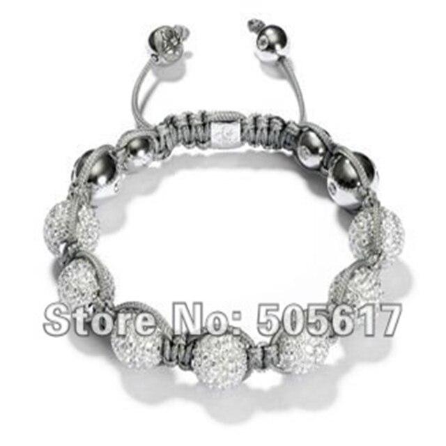 Wholesale Jewelry Fashion Shamballa Bracelet Crystal Micro Paved Customized Charm Bracelets CPX050
