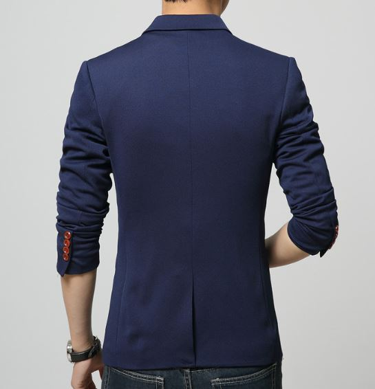 2019 Fashion Party Mens slim fit ბამბა blazer Suit Jacket - კაცის ტანსაცმელი - ფოტო 6