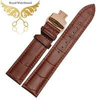 16 mm 18 mm 19 mm 20 mm 22 mm Ligth Brown reloj del cuero genuino para hombre o para mujer de las mujeres de la correa pulseras