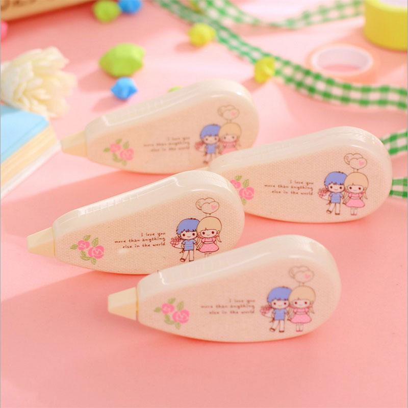 Купить с кэшбэком 1x cute creative love story correction tape kawaii material escolar korean stationery gift students School office supplies