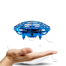 Dron Mini Drone RC Trực Thăng Quadrocopter Cậu Bé Đồ Chơi Cảm Biến Hồng Ngoại Không Người Lái 1 Nút Cất Cánh Cảm Ứng Thoải Máy Bay UFO