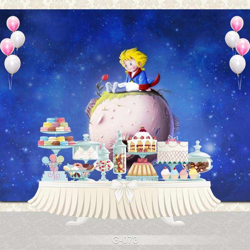 NeoBack Cartoon Blue Sky Space Little Prince Planet Airship sfondo fotografico personalizzato per bambini puntelli in Studio fotografico