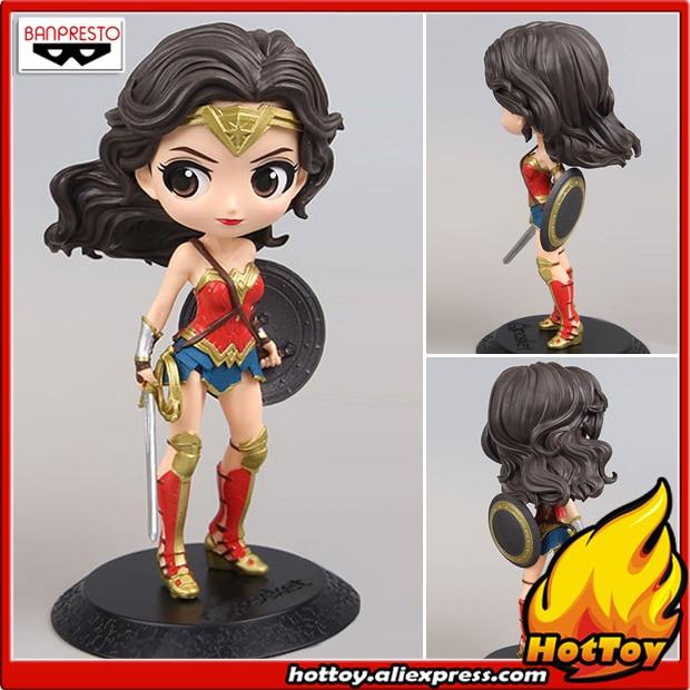 100% Original Banpresto Q Posket Collection Figure Wonder Woman (Specail Color ver.) from Justice League