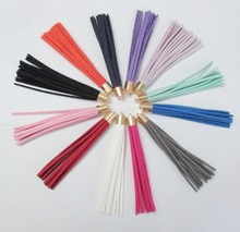 Suede Leather Tassels Keychain 12 colors