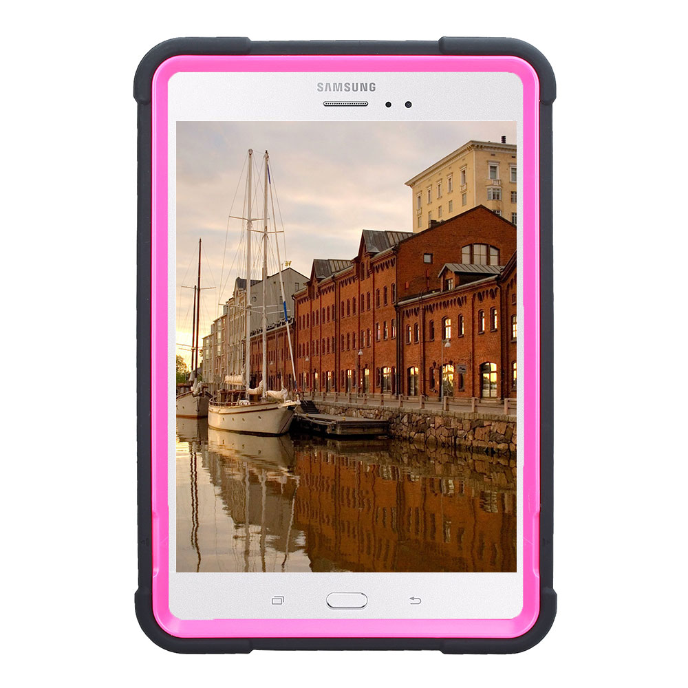 For Samsung Galaxy Tab A 8.0 SM-T350 T355 Rugged Armor Tablet Case Cover Hybrid Shockproof Silicone+PC Hard Case With Kickstand