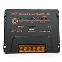 20A 12/24V MMPT Solar Controller Panel Auto Switch Battery Regulateur Temperature Compensation Solar Charger Controller