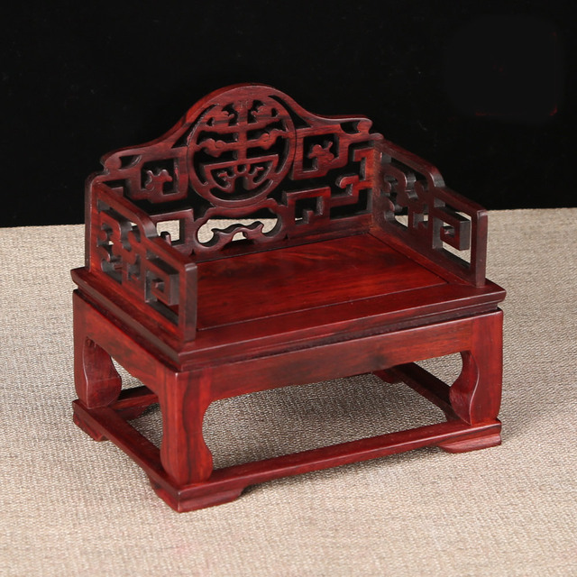 Red Wood Miniature Furniture Table Display Mahogany Traditional Chinese  Ming Qing Dynasty Classical Decoration Crafts Wood