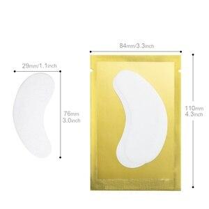 Image 3 - Zwellbe 10/20/50 זוגות רטיות להארכת ריסים נייר תיקוני 4 צבע מורכב תחת רפידות העין טיפים מדבקות איפור כלים
