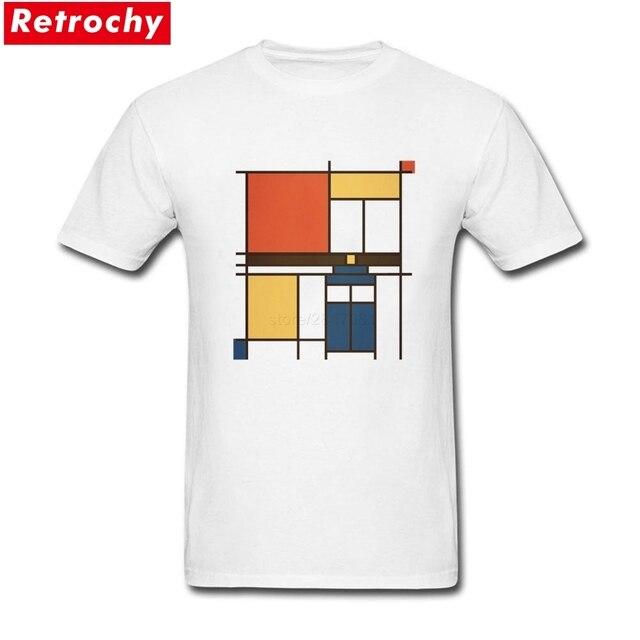Rock Mondrian Que Camisas de T Dos Homens de Manga Curta Personalizados Eco  Algodão Caras Graphic e8048689faba3