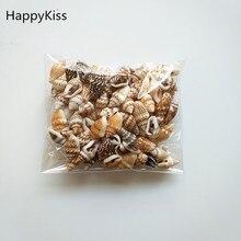HappyKiss 0,9-1,5 см, 100 шт./лот, натуральные раковины, мини-раковины, кукурузы, винт, украшение стены, сделай сам, аквариум, пейзаж, ракушки