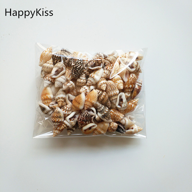 HappyKiss 0.9-1.5cm 100pcs/lot Natural conch shells mini conch corn screw wall decoration DIY aquarium landscape seashells