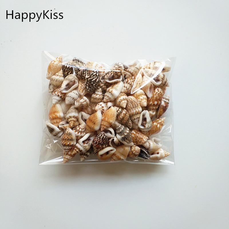 HappyKiss 0,9-1,5 см 100 шт./лот, раковины из натуральных раковин, мини-раковины, винт для кукурузы, настенное украшение, DIY аквариумные Ландшафтные ра...