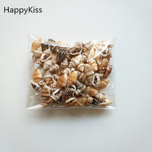 HappyKiss 0.9-1.5cm 100pcs/lot Natural conch shells mini conch corn screw wall decoration DIY aquarium landscape seashells(China)