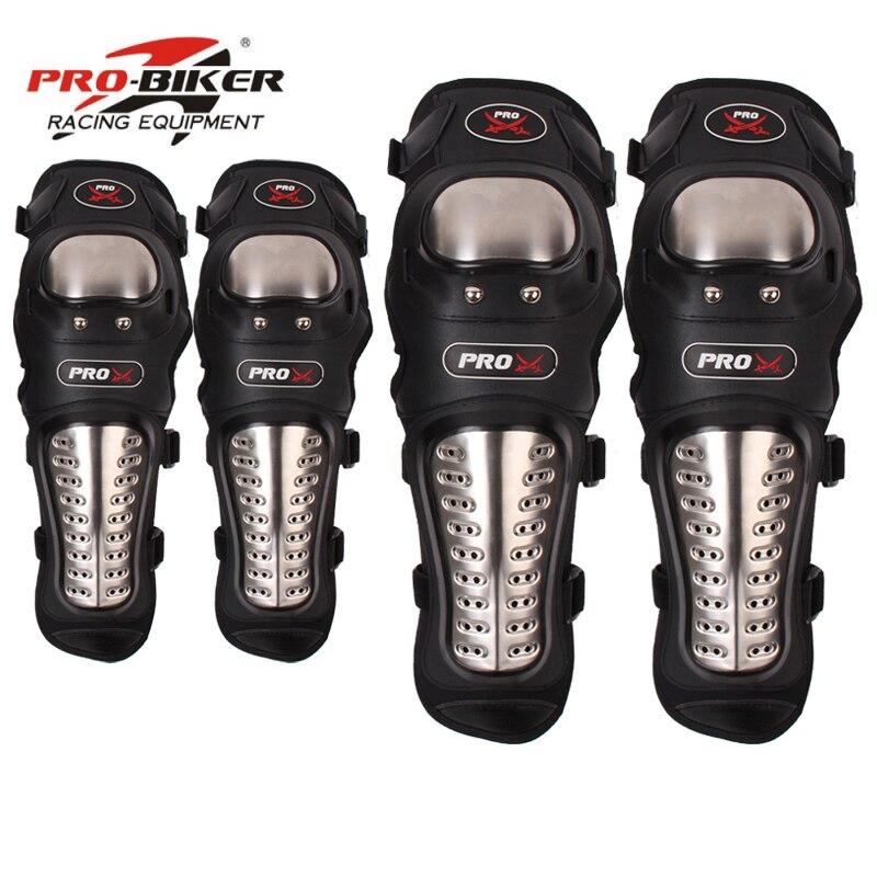 4 teile/satz Motorrad Kneepad Edelstahl Moto Knie Ellenbogen Pads Motocross Racing Schutz Getriebe Protector Guards Qualität Feine-in Motorrad-Knieschützer aus Kraftfahrzeuge und Motorräder bei
