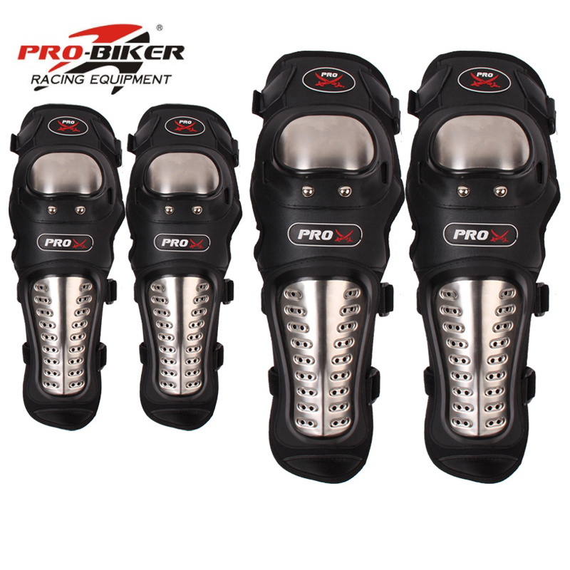 4Pcs Set Motorcycle Kneepad Stainless Steel Moto Elbow Knee Pads Motocross Racing Protective Gear Protector Guards Quality Fine