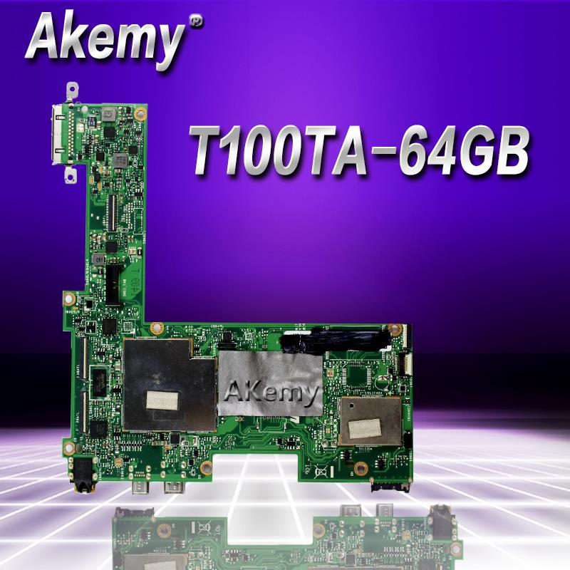 Akemy T100TA Laptop Motherboard For ASUS T100T T100TA Test Original Mainboard 64GB SSD