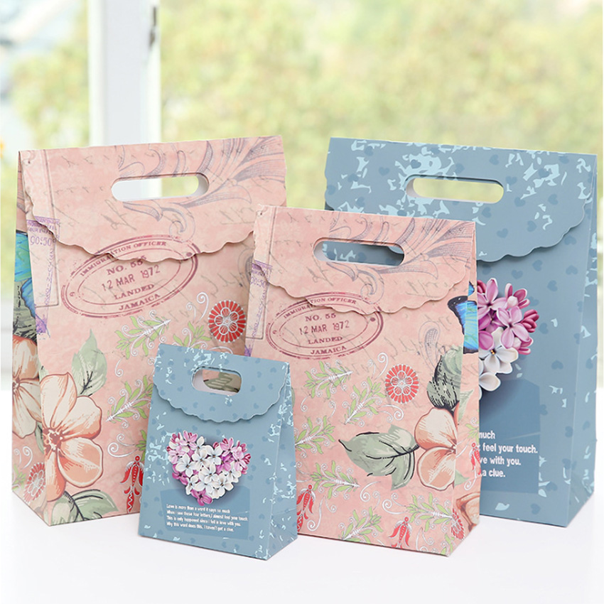 10 Pcs lot Multifunction European style pansy paper bag Creative gift bag Recyclable Bag Fashionable Gift Paper Bags in Gift Bags Wrapping Supplies from Home Garden