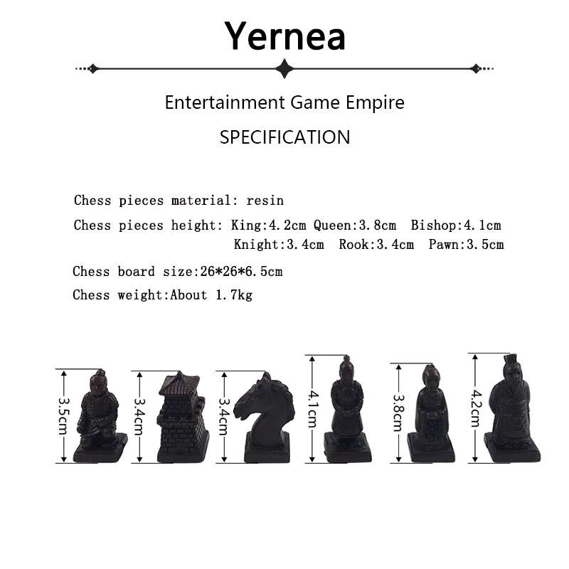 Yernea New Vintage Chess Set Collection Chinese Chess Board Game Wood Carving Resin Chessman Christmas Birthday Gifts in Chess Sets from Sports Entertainment