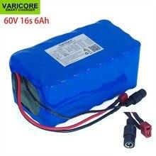 VariCore Batería de ion de litio 16S2P, 60V, 6Ah, 18650, 67,2 V, 6000mAh, para bicicleta eléctrica, Scooter con descarga de 20A, BMS, 1000 vatios