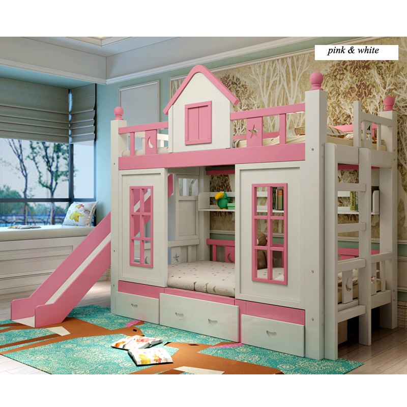 1  0128TB006 Fashionable kids bed room furnishings princess fortress with slide storages cupboard stairs double kids mattress HTB179yco3DD8KJjy0Fdq6AjvXXas