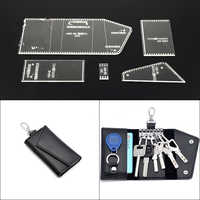 1Set Acrylic Key case set Leather Template Model Handwork Leather Craft Sewing Pattern Tools