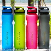 1Л большая емкость пластиковая Спортивная бутылка для спорта на открытом воздухе Фитнес бутылка для воды для езды на велосипеде чашка портативная матовая космическая чашка#2H26
