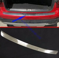 For AUDI Q2 2018 2019 Stainless steel rear bumper protection window sill outside trunks decorative plate pedal